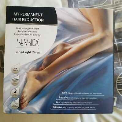 Sensica Sensilight Mini 50,000 Flashes Permanent Hair Reduction- used once