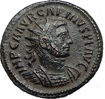 CARINUS Authentic Ancient 283AD Roman Coin JUPITER VICTORY Tripolis i67085