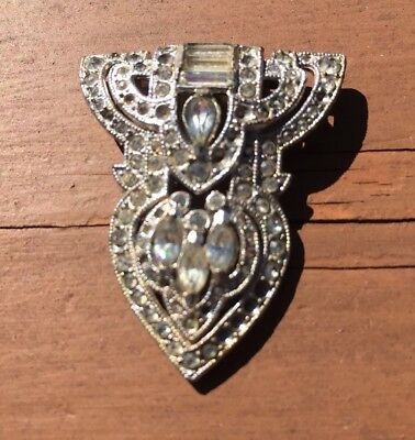 Stunning Crystal Vintage Shoe Clip - Perfect for Jewelry Making!