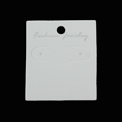 White earring display cards - 58mm x 50mm - 10 pieces (1995)