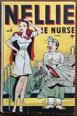 Nellie The Nurse #8 / Solid Good Condition / Detached Cover