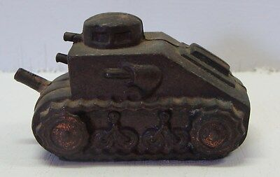 Vintage Miniature Wwi Tank Made Of Bronze Or Brass