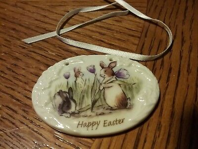 Longaberger Ceramic Tie On for Baskets 2006 Happy Easter New Old Stock