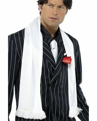 Smiffy's Mens Gangster 20's 30's Gatsby Stag Fancy Dress Costume White SCARF