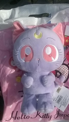 Sailor Moon x My Melody Sanrio Collaboration AUTHENTIC Luna Plush Stuffed Toy