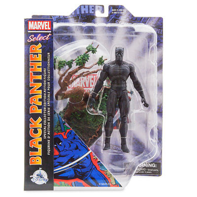 """Disney Store Marvel Select BLACK PANTHER 7"""" Diamond Civil Movie NEW 2018 IN HAND"""