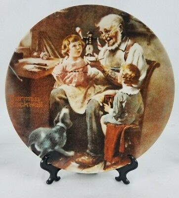 Norman Rockwell The Toy Maker Collector Plate - Knowles