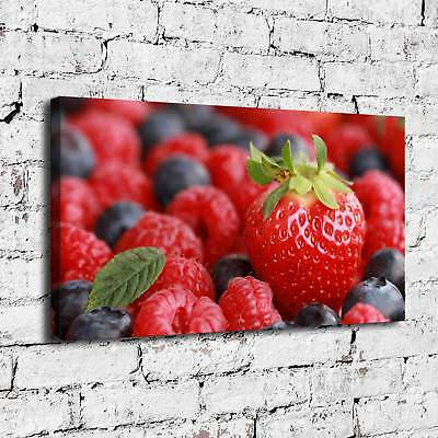 Strawberry Fruit Poster Painting HD Print on Canvas Home Decor  Wall Art Picture