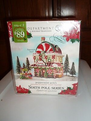 DEPT 56 NORTH POLE Village PEPPERMINT PETE'S NIB