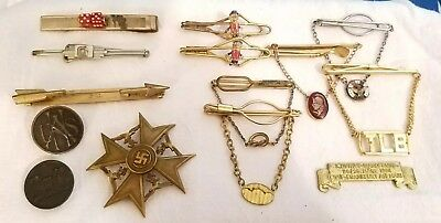 Vintage antique lot of jewlery unsearched  Germany gold ? Clips