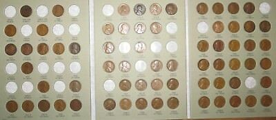 1909 VDB-1940 PDS Lincoln Wheat Penny Cent Collection, 67 coins in Album