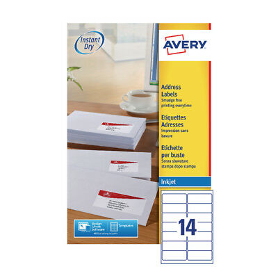 Avery Inkjet Labels 14/Sheet 99.1x38.1 25Sheet (Pack of 350 )