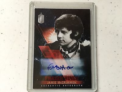 Doctor Who Timeless Frazer Hines as Jamie McCrimmon Autograph Red 9/10