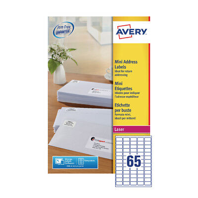 Avery White Mini Laser Labels (Pack of 1625) L7651-25