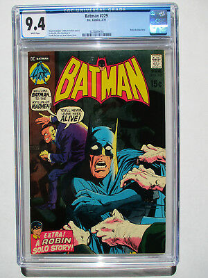 Batman #229 CGC 9.4 Neal Adams Cover! Robin Backup story! White Pages!