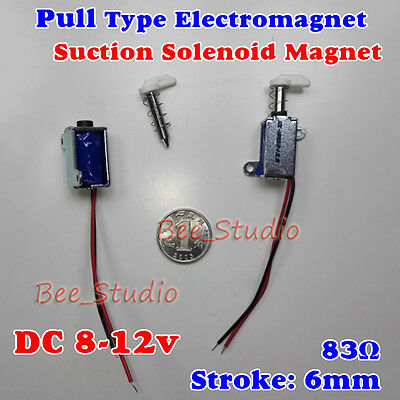 DC12V Push Pull Type Mini Solenoid Electromagnet Micro Suction Magnet Stroke 6MM