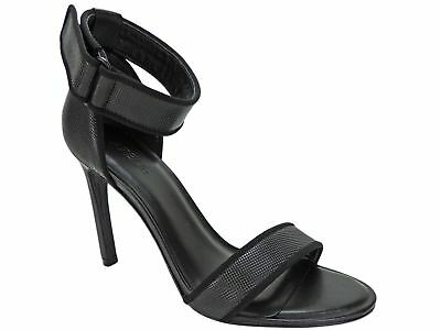 Atelje New York Jask Heel Leather Black Micro Dot Sandal Size 6.5 US 37.5 EU