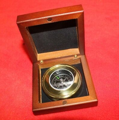 Compass in Wooden Box -New