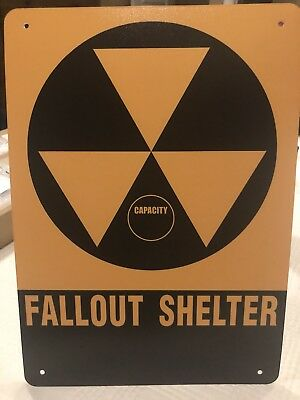 FALLOUT SHELTER SIGN/ CIVIL DEFENSE/ EXACT REPRODUCTION 10x14