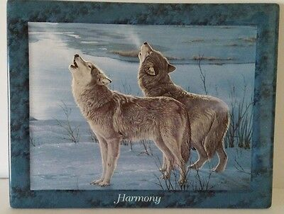 """Bradford Exchange """"Harmony"""" Wolves ~ 3rd issue Lifemates by Dan Smith"""