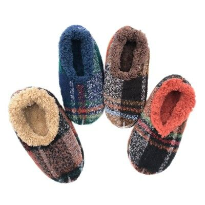 Men's Slumbies Classic Fluffy Fur Non-Slip Slipper Fuzzy Socks Family Gift New