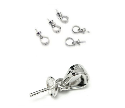 20PCS pendant  925 Sterling Silver plating Findings Bail Pendant Connector