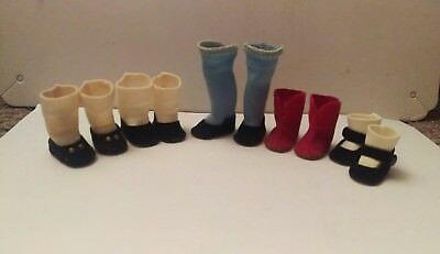 Lot of 5 pairs of Vintage Madame Alexander Kins Shoes, Boots and Socks