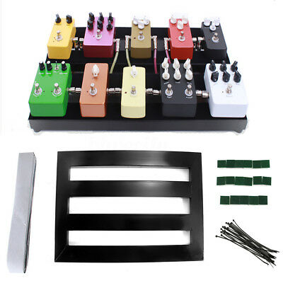 Electric Guitar Pedal Boards Effects PedalBoard Cases + Adhesive Tape Tools