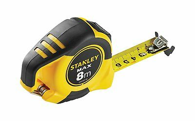 NEW Stanley 0-33-959 Max Tape Measure with Magnetic Hook 8 m x 25 mm/STHT0-36118