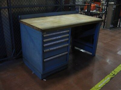 G. Heavy Duty Wood Butcher Block Top Industrial 60 x 30  Desk HI KNOXVILLE TN