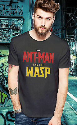 New Ant Man And The WASP Movie Inspiration Top T-Shirt Black And White Unisex