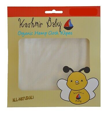 Kashmir Baby Organic Cloth Diapering Wipes Hemp/Bamboo. Reusable. Washable.