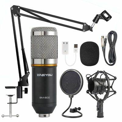 Condenser Microphone Bundle BM-800 Mic Kit for Studio Recording & Brocasting New