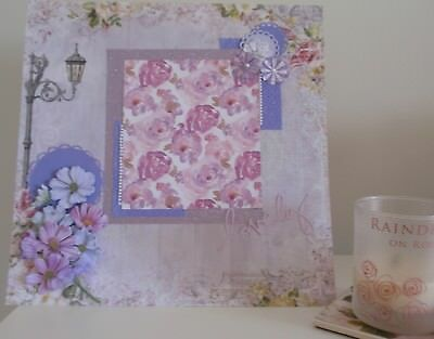 Handmade Scrapbook page - Shades of Lilac