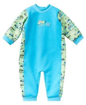 Splash About Warm in One Fleece lined Baby Wetsuit | Green Gecko