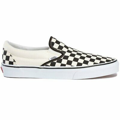 Vans Classic Unisex Footwear Slip Ons - White Black Checkerboard All Sizes