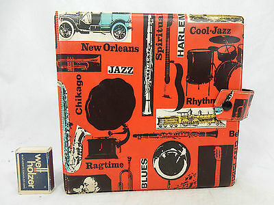 "Beautiful 50´s design 7 inch record wallet / Schallplatten Mappe "" Jazz "" 10373"