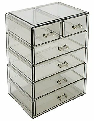 Sorbus Cosmetics Makeup and Jewelry Big Storage 4 Large, 2 Small Drawers, Black