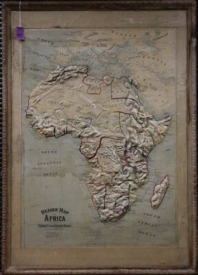 1895 RELIEF MAP OF AFRICA, PUB. CHICAGO, ILL. Lot 3500