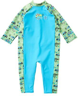 Splash About Baby Toddler Boys UV All in One Sunsuit | UPF50+ | Green Gecko