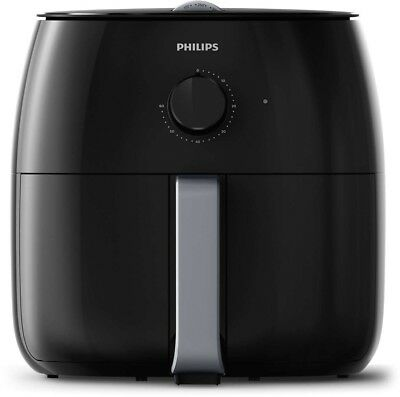 Philips Heißluft Fritteuse HD9630/90 Airfryer XXL Twin TurboStar, das Original f