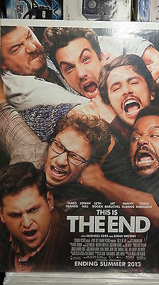 THIS IS THE END Original Movie Poster Seth Rogen DS 27x40 FREE STAR WARS POSTER!