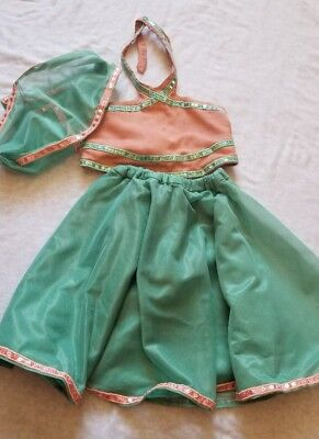 Pakistani Indian Sharara For 3 6 8 Months Baby Girl  Peach And Aqua Color