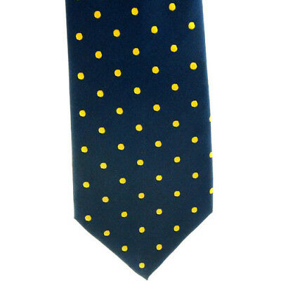 Showquest Woven Medium Spot Unisex Accessory Tie - Navy/sunshine All Sizes