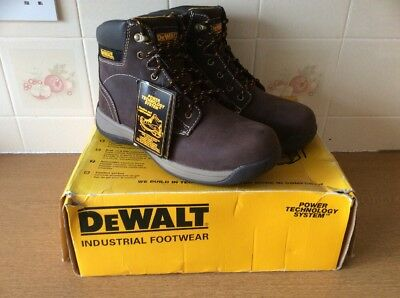DeWalt Industrial Builder Boots Safety working shoes , Steel Toe New Tags Boxed