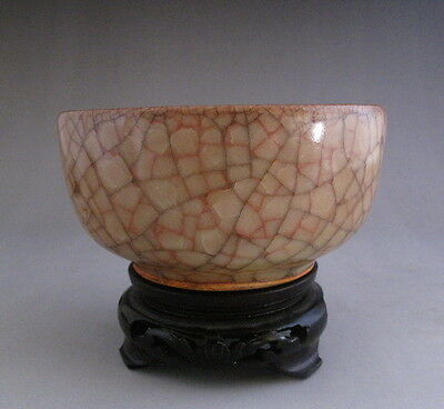 Old Chinese Guan ware Cracks Yellow Glaze Porcelain Teacup cup