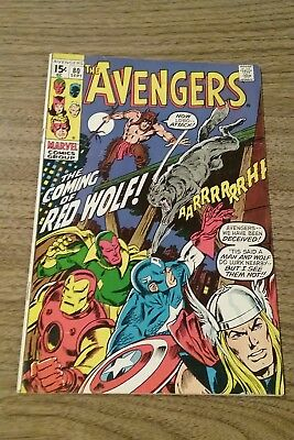 Avengers #80 (Marvel 1970) 1St. Appearance Red Wolf Vg+ To F