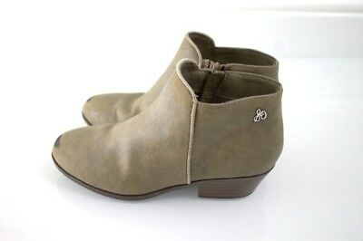 151fc172154fa3 Sam Edelman Girls Petty Ankle Bootie Side Zip Up Boot Grey Suede Taupe Size  13