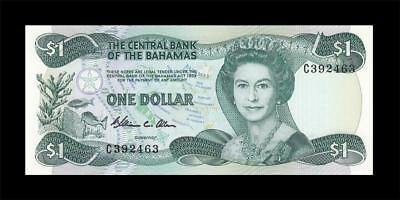 1974 (1984) British Colony Bahamas Qeii $1 (( Gem Unc ))