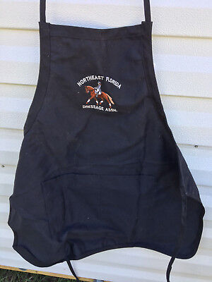 Black Dressage Horse Assn Apron with Pockets  Made in USA